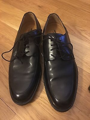 Johnston and Murphy Mens Black Lace-up Size 8 1/2M  Leather Dress Shoes