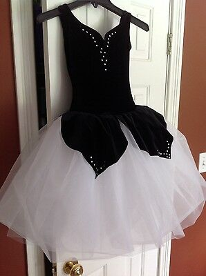 Curtain Call Black and White Ballet costume child M