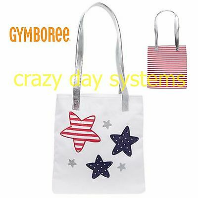 Gymboree Glitter Star Tote Bag New Red White and Blue