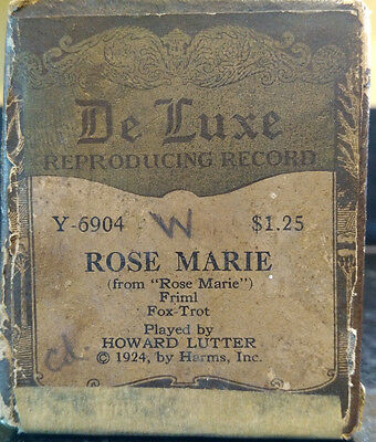 De Luxe Reproduction Recording Player Piano roll Rose Marie Fox Trot 1924