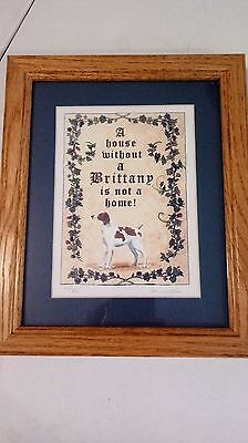 """Oak Framed Print of """"A House Without a Brittany is Not a Home!"""" (picture)"""