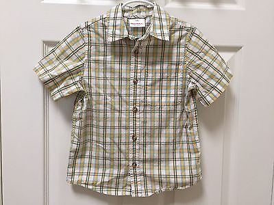 Hanna Andersson Boys Collared Short Sleeve Shirt Size 110 (Size 5-6)