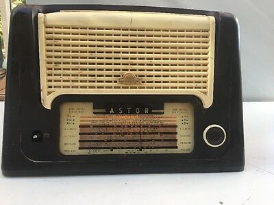 Vintage Astor Radio And Record Player Combined