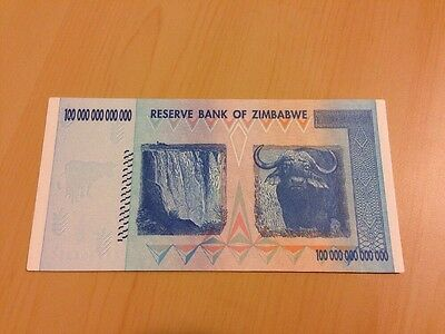 <MAKE OFFER>1 Zimbabwe 100 Trillion Dollars($) AA 2008 AUNC~LIMITED TIME OFFER~