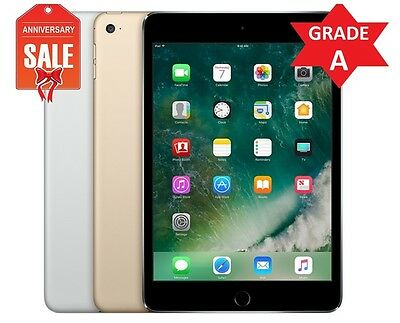 Apple iPad mini 4th 16GB 32GB 64GB 128GB Wi-Fi, 7.9in - Gray Silver Gold (R)