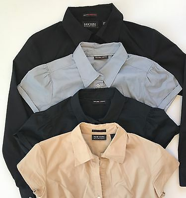 Women's Career Casual XS and S of 4 Tops New York Company Stretch Shirts