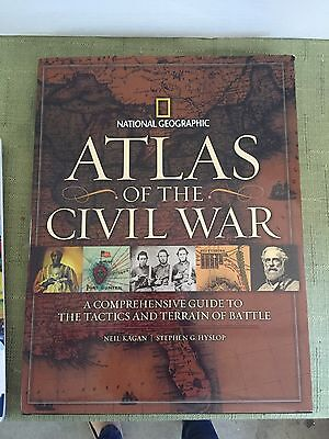 Atlas of the Civil War National Geographic Book VGC-LOT S