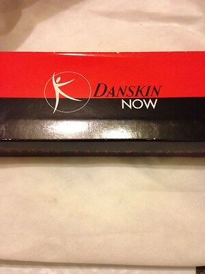 Danskin Now Ladies Leather Dance Shoes size 5 White with box