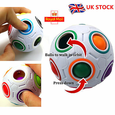 Funny Rainbow Magic Ball Plastic Cube Twist Puzzle Brain Teasers Educational Toy