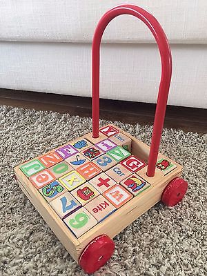 Wooden toy trolley