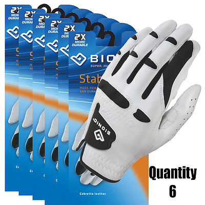 6 x BIONIC Mens StableGrip Golf Gloves NEW Natural Fit - Right & Left Hand