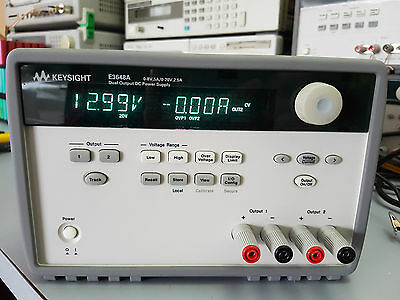 Keysight E3648A 100W Dual Output Power Supply,Two 8V, 5A or 20V, 2.5A Agilent HP