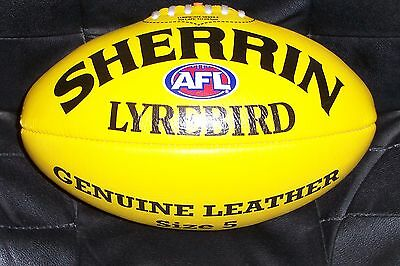 Sherrin Lyrebird Yellow Size 5 Imported Leather Football