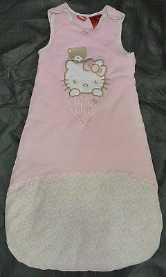 NWT Hello Kitty Licensed Girls Pink Embroidered Sleeping Bag Size 0-6 months