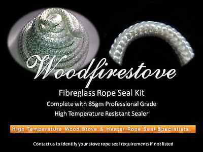(9mm) WOOD FIRE STOVE & HEATER Fibreglass ROPE SEAL KIT 2 Metres  *FREE SHIPPING