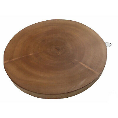 30cm Hard Wood Hygienic Round Cutting Wooden Chopping Board Natural Kitchen New