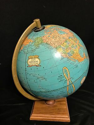 Vintage Crams Imperial World Small Globe -- Made in USA-- No 16