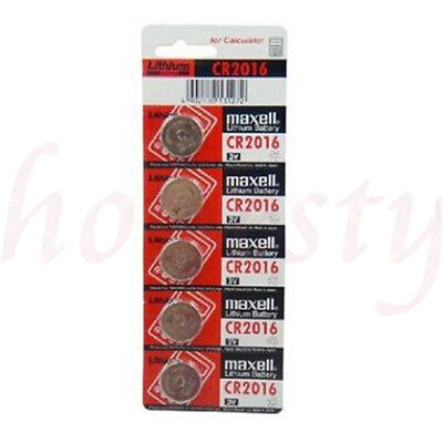 2/5/10pcs Batteries 3V Cell Coin Button For CR2016 Calculator NEW