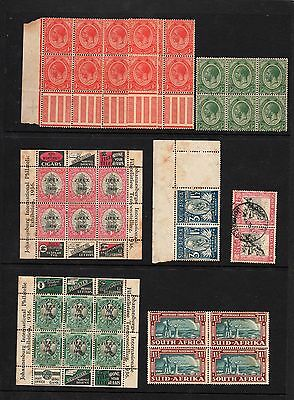 SOUTH AFRICA - Block Stamps - Mostly MINT/UNHINGED - Some from 1936