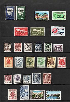 AUSTRALIAN - Pre-Decimal MINT Stamps some dated 1956