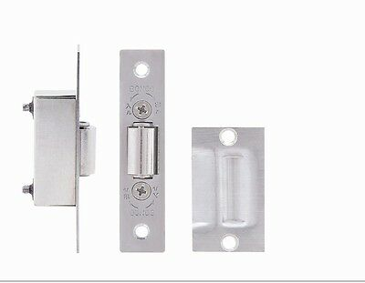 ADJUSTABLE ROLLER CATCH Satin Stainless Steel Mortice Door Spring Ball Latch