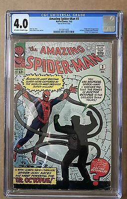 The Amazing Spider-Man #3 ⭐️ CGC Graded 4.0 ⭐️ 1st First Doctor Octopus
