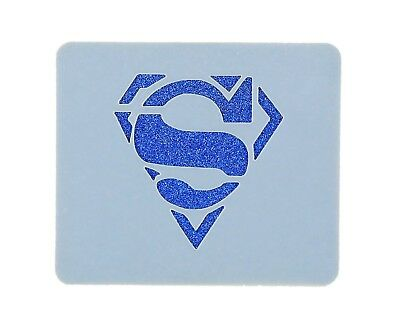 Small Superman Face Painting Stencil 7cm x 6cm 190micron Washable Reusable Mylar
