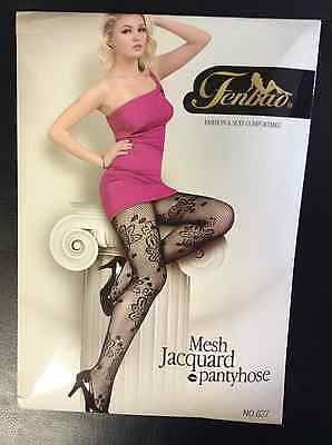 Black New Floral Fishnet Pantyhose Stockings Netting Tights one size fits most
