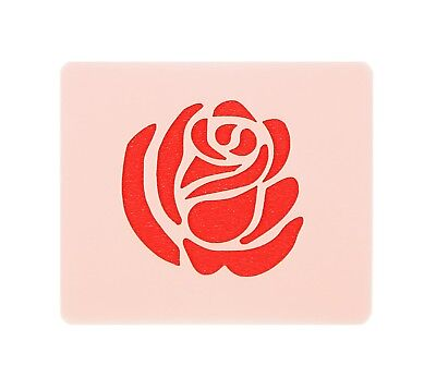 Small Rose Face Painting Stencil 7cm x 6cm 190micron Washable Reusable