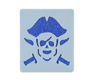 Pirate Face Painting Stencil 7cm x 6cm 190micron Washable Reusable