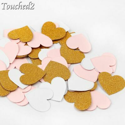 100Pcs Wedding Paper Confetti Table Gold Heart Circles Throwing Decoration