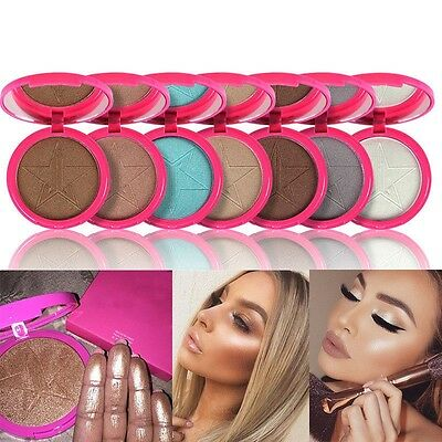 10 Color Star Skin Beauty Makeup Frost Highlighter Face Shadows Glow Kit Powders