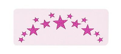 Forehead Stars Festival Paint Stencil 11cm x 4.5cm 190micron Washable Reusable