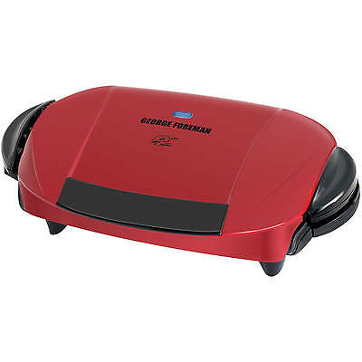 George Foreman 5-Serving Grill with Removable Plates, Red, GRP0004R