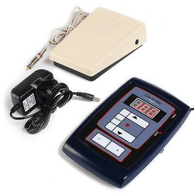 Tattoo New LCD Digital Tattoo Power Supply And Foot Pedal And Clip Cord Kit