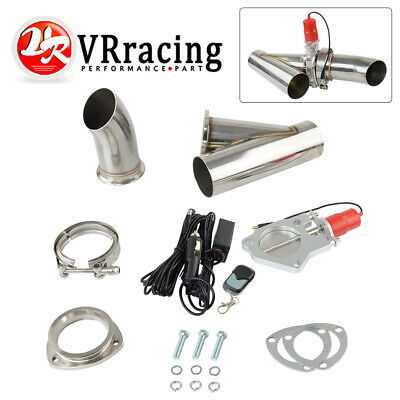 3 inch Stainless Steel Headers Electric Exhaust CutOut Kit with Remote control