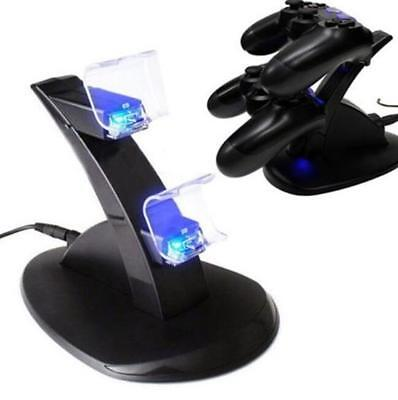 Playstation Dual PS4 Fast USB Dock Station Controller LED Charger Charging Stand