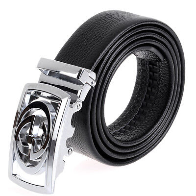Luxury Double G Men's Automatic Buckle Waistband Belts Leather Waist Strap US