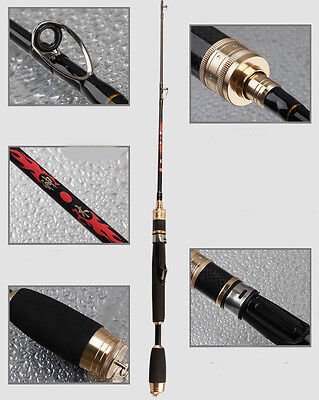 1.0M Portable Super Strong Carbon Telescopic Spinning Pole Sea Fishing Rods ^^#