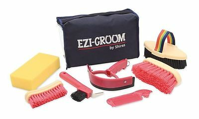 Shires Ezi-Groom Kids Girls Boys Horse Riding Stable Yard Showing Grooming Kit