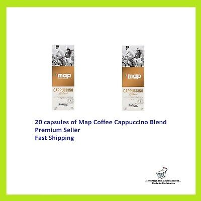 20 Capsules Map Coffee Cappuccino Blend Caffitaly System