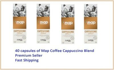 40 Capsules Map Coffee Cappuccino Blend Caffitaly System