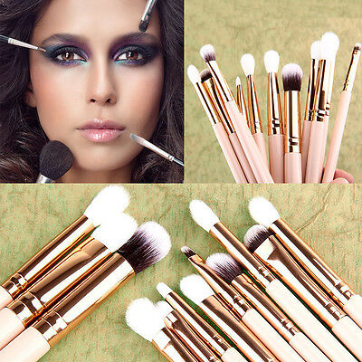 12pcs/Set Pro Makeup Brushes Foundation Powder Eyeshadow Eyeliner Lip Brush Tool