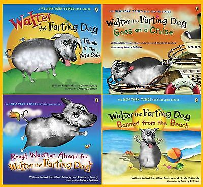 Walter the Farting Dog Series Collection Set Books 1-4 By William Kotzwinkle New
