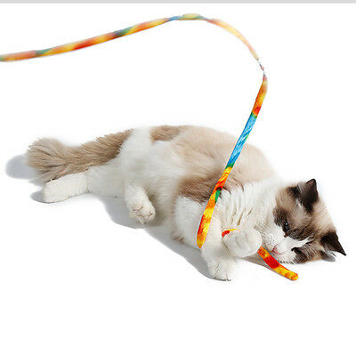 New Funny Charming Cat Dancer Cat Charmer Wand Teaser Colorful Toy With Bell