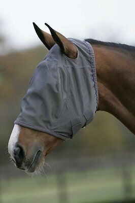 MARK TODD FLY MASK  Full Face With Or Without Ears Grey Small Medium Large