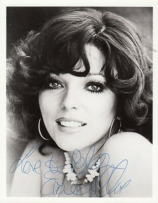 "JOAN COLLINS  - 6"" x 4.5"" Portrait Photograph PERSONALLY SIGNED To PETE  F#21"