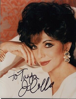 "JOAN COLLINS  - 5"" x 4"" Portrait Photograph PERSONALLY SIGNED To TANYA  F#21"
