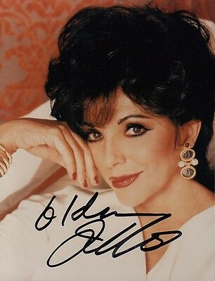 "JOAN COLLINS  - 5"" x 4"" Portrait Photograph PERSONALLY SIGNED To IDA   F#21"