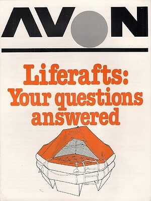 Avon Liferafts 'Your Questions Answered' Early 1980s UK Market Sales Brochure